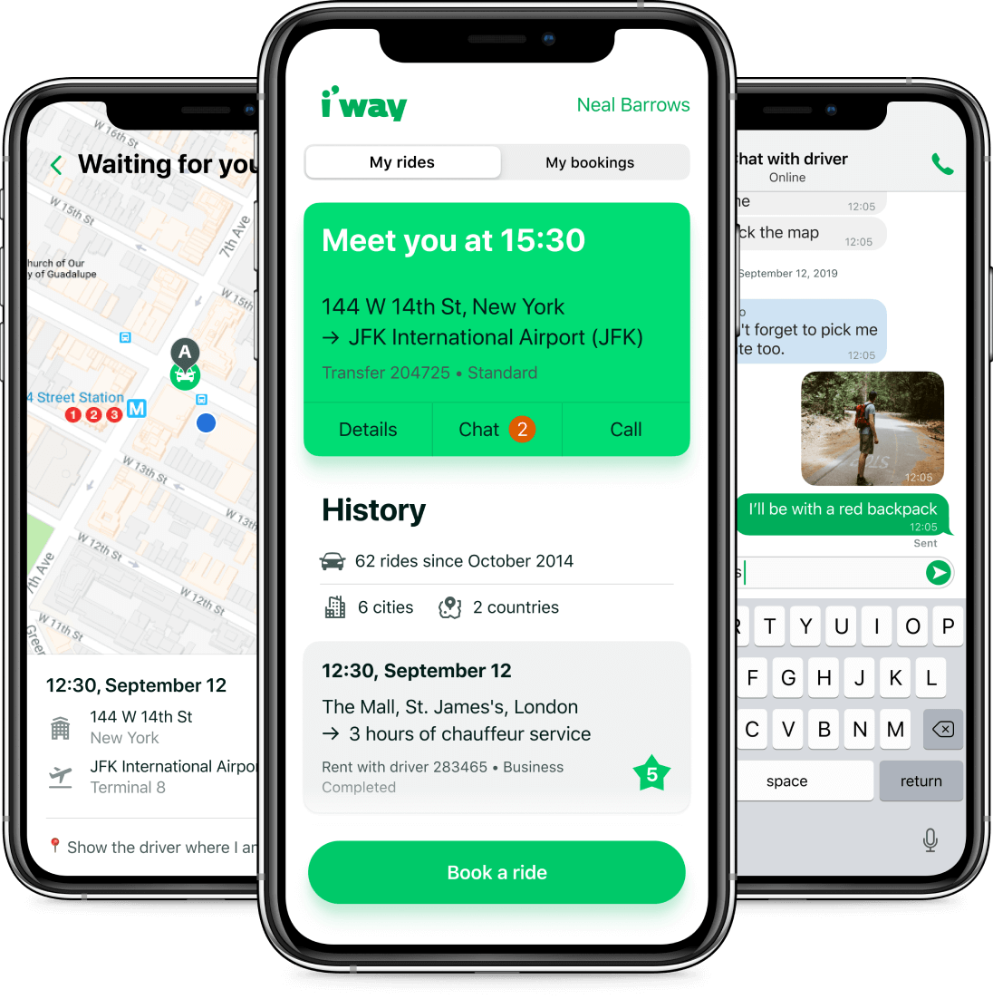 I'way app screenshot